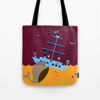 panic at the disco Tote Bags featuring Panic by EipKkuk