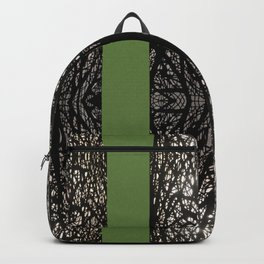 Gothic tree striped pattern green Backpack