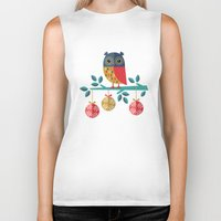 marina and the diamonds Biker Tanks featuring WOOHOO IT'S CHRISTMAS! by Daisy Beatrice