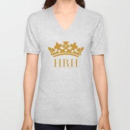 HRH Her Royal Highness Unisex V-Neck