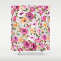 oil Shower Curtains featuring Blodau oil... by Catherine Ann Lewis