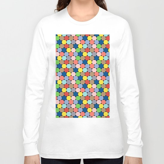 Colorful Geometric Pattern II Long Sleeve T-shirt