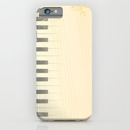 Antique Piano Background iPhone Case
