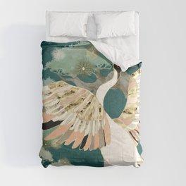 Golden Crane Comforters