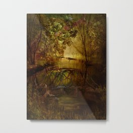 Magical Channel-Bashakill Wetlands Metal Print