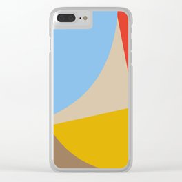Mid Century Minimal 6 Clear iPhone Case