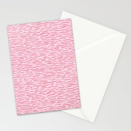 Waves Lines Texture Seamless Vector Pattern Pink Stationery Cards