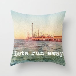 lets run away Throw Pillow