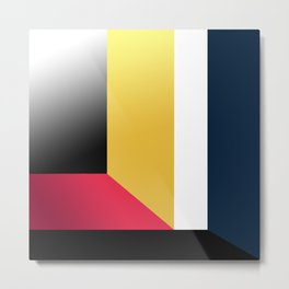 Abstract Walls. Metal Print