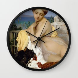 Jean-Léon Gérôme - Young Greeks Attending a Cock Fight Wall Clock