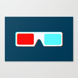 3-D Glasses Canvas Print