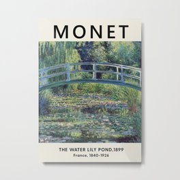 Claude Monet - The Water Lily Pond, 1899 - Exhibition Poster - Art Print Metal Print