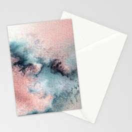 Pink and Blue Oasis Stationery Cards