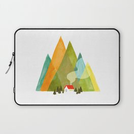 House at the foot of the mountains Laptop Sleeve
