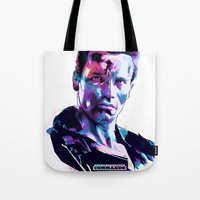 arnold Tote Bags featuring Arnold Schwarzenegger: BAD ACTORS by Largetosti