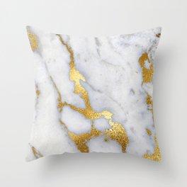 Italian gold marble II Throw Pillow