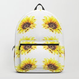 Watercolor Sunflower Petal Pattern Backpack