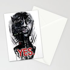 YES wolf Stationery Cards
