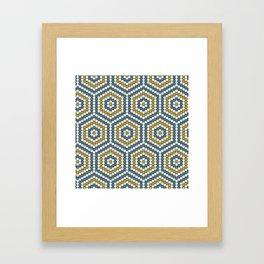 Hexagon Tile One Framed Art Print