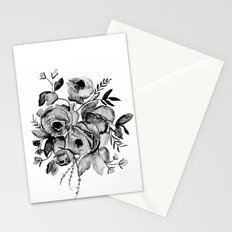 GREYSCALE ROSES Stationery Cards
