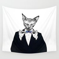 sphynx Wall Tapestries featuring Sphynx 007 by Psyca