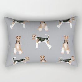 Wire Fox Terrier dog breed pure breed dog lover gifts Rectangular Pillow