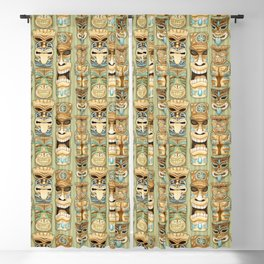 Tropical Hawaiian Deluxe Tiki Party Pattern Blackout Curtain