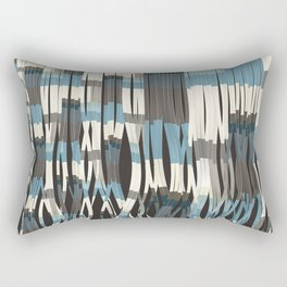 Abstract Graphic Ribbons Rectangular Pillow