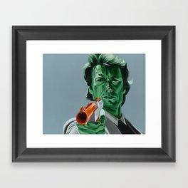 """""""Feel lucky, duck?"""" Framed Art Print"""