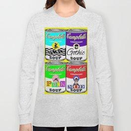 Pop Art Music SKA Punk Mod Punk SoupCans Long Sleeve T-shirt