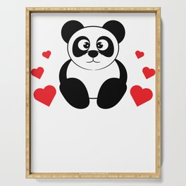 The cute & lovely Panda Tee for a panda lover, pet lover & animal lovers Life is better with a Panda Serving Tray