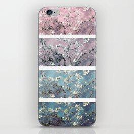 Vincent Van Gogh : Almond Blossoms Panel arT Pastel Pink Blue Teal iPhone Skin