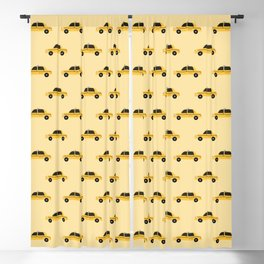 New York City, NYC Yellow Taxi Cab Blackout Curtain