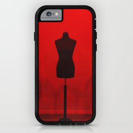 black and red mannequin iPhone Case