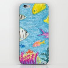 Crayon Fish #4 iPhone & iPod Skin