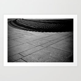 Abstract Black and White-The Bandshell Art Print