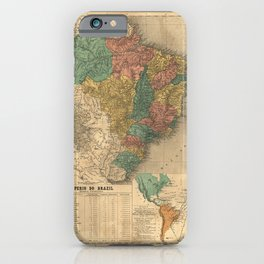 Imperial Atlas of Brazil (1868) - 02 The Empire of Brazil iPhone Case