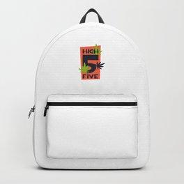 Funny High Five Marijuana Backpack