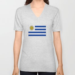 flag of Uruguay-Uruguyan,montevideo,spanish,america,latine,Salto,south america,paysandu,costa,sun,be Unisex V-Neck