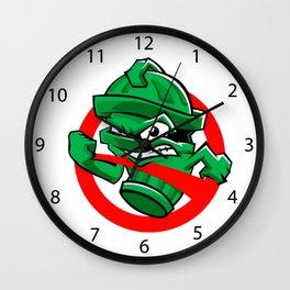 Cartoon Green trash can Wall Clock