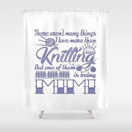 Knitting Mimi Shower Curtain