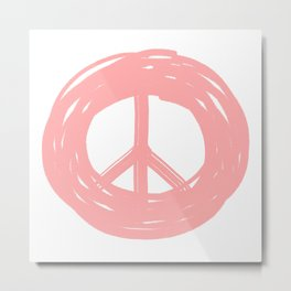 Peace Please Metal Print
