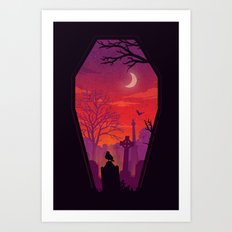To The Grave Art Print