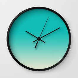Faded Turquoise Wall Clock