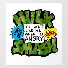 Hulk Quote Art Print