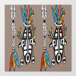 African Tribal Mask No. 7 Canvas Print