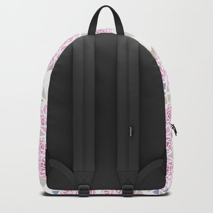 Modern . Geometric pattern . Roses . 1 Backpack