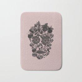 Flowery Skull Bath Mat