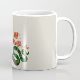 Snake and flowers Coffee Mug