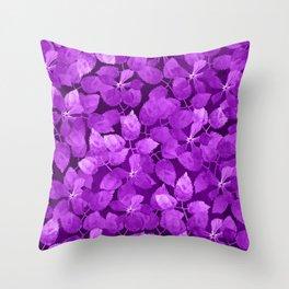 watercolor Botanical garden IV Throw Pillow